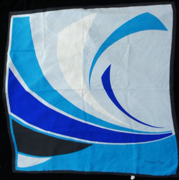 Vintage Christian Dior Silk Scarf by SycamoreVintage on Etsy, $29.00