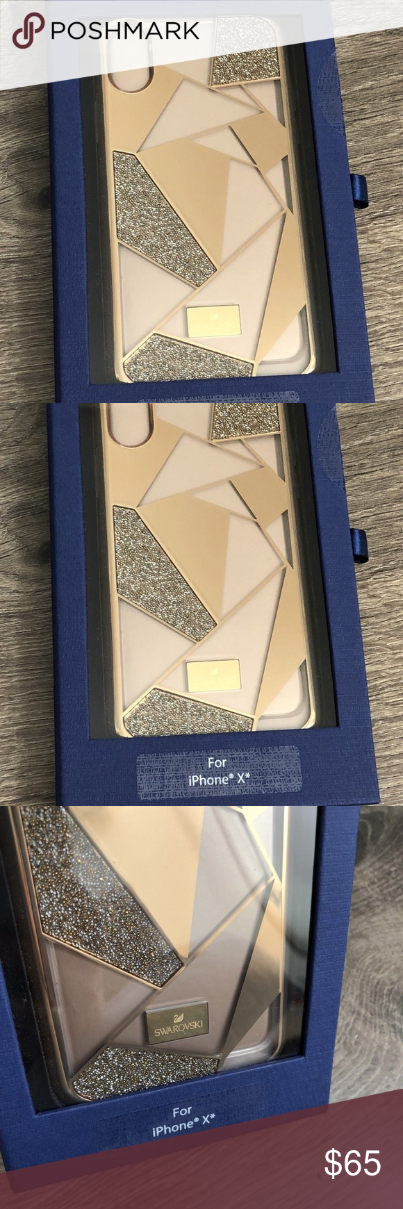 5258bca131886c Swarovski Heroism Case with Bumper iPhone X Gold Swarovski Heroism Case for  Apple iPhone X Gold