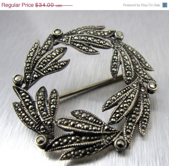 Antique Enamel Sterling Marcasite Garnet Dragonfly Pin Made To Order Art Deco Style Sterling Garnet /& Marcasite Enamel Dragonfly Brooch
