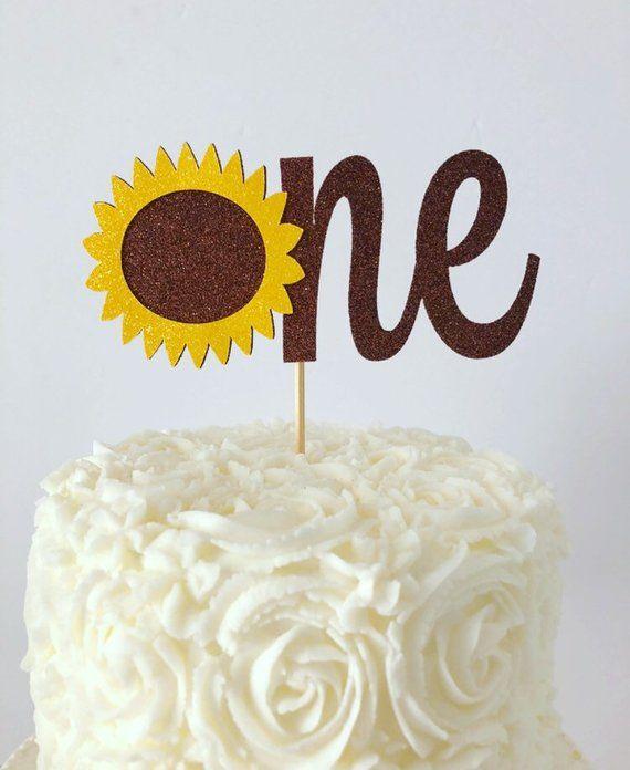 71e21114c20 Sunflower Age Cake Topper   Sunflower Cake Topper   Sunflower Birthday
