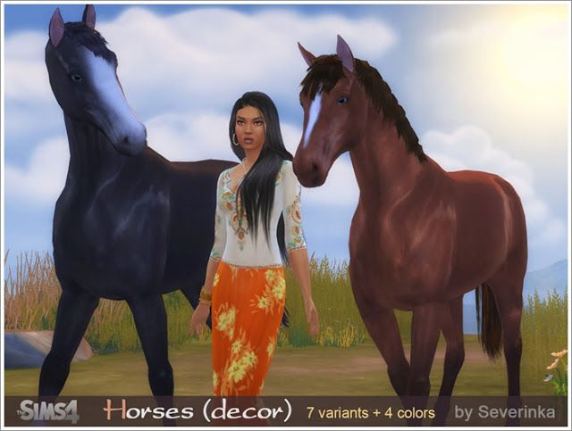 The Best Decorative Horses And Poses By Severinka Sims Mods Sims 4 Mods Origami Pferd