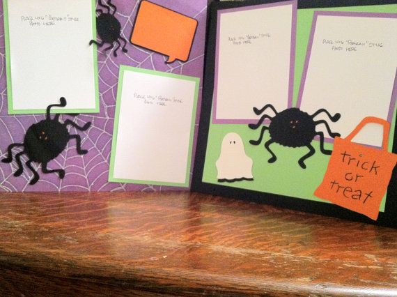 Halloween Trick or Treat Pre Made 12 x 12 by aSavvyScrapbooker, $10.00