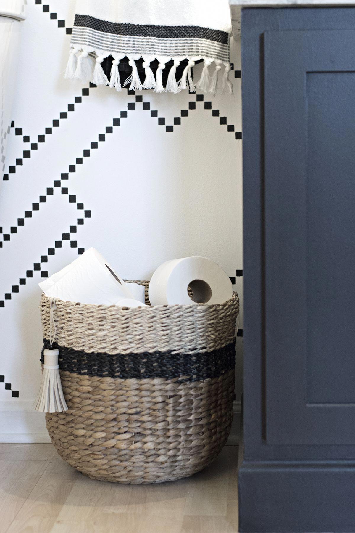 How To Arrange Your Bathroom Papieraufbewahrung Bad Korbe