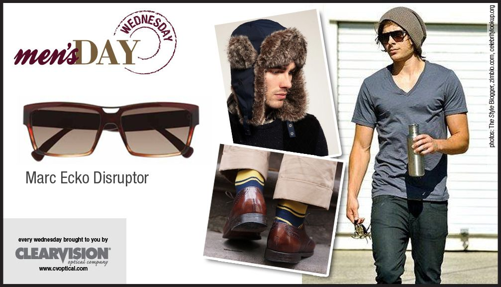 """No outfit is complete without accessories. Tie your """"head-to-toe"""" look together with Marc Ecko Cut & Sew Disruptor. Disruptor is a sleek acetate sun with a dark pewter top brow featuring knurled texturing."""