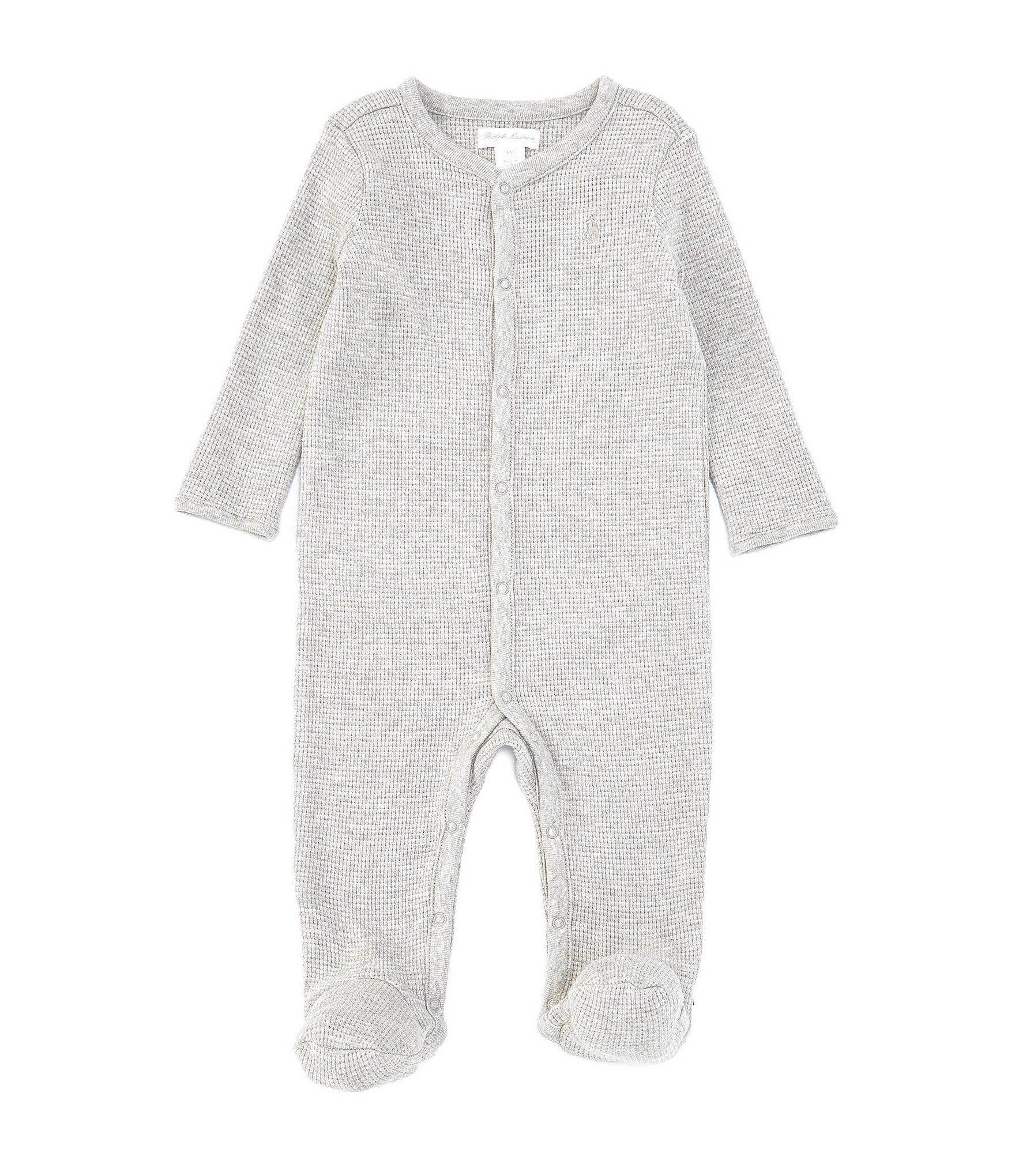 Photo of Ralph Lauren Childrenswear Baby Boys 3-9 Months Long-Sleeve Waffle-Knit Footed Coverall – French Navy 6 Months
