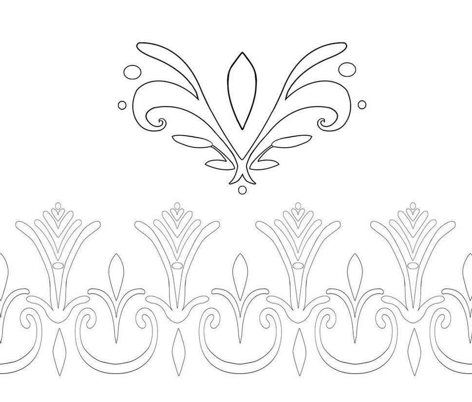 Elsa Coronation Dress Pattern Outlines by Kaeldri on DeviantArt use for name stencils