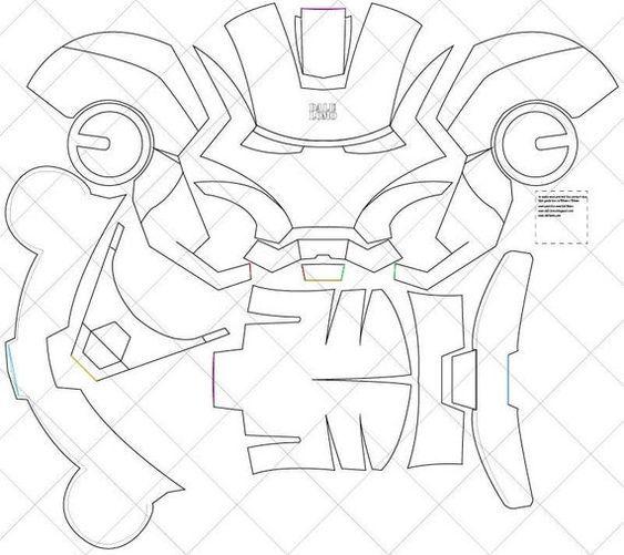 Iron Man Mark 4 Helmet A4 & Letter Size PDF Template | Etsy