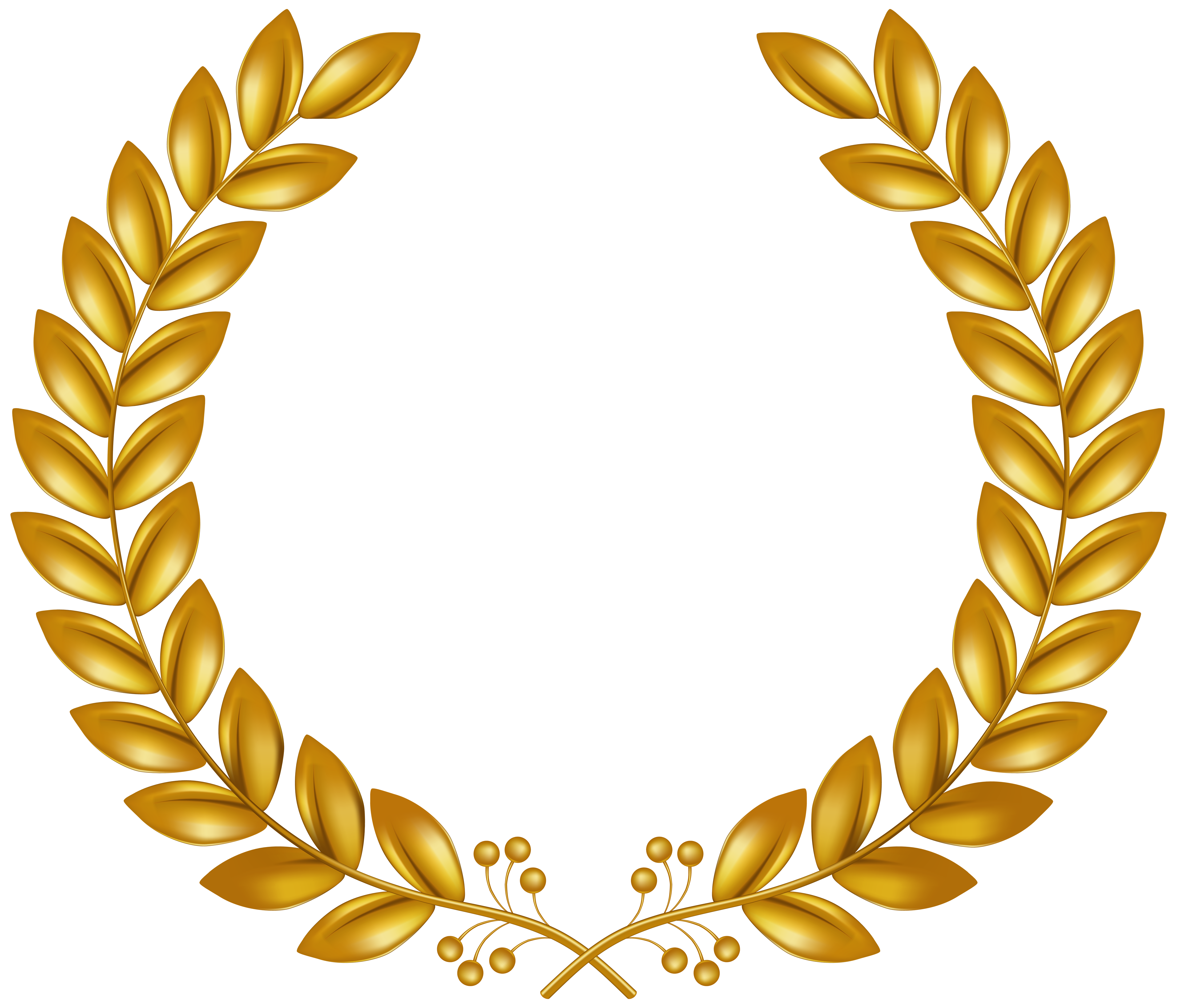 Golden Wreath Transparent Png Clip Art Gallery Yopriceville High Quality Images And Transparent Png Free Clipart Golden Wreath Logo Design Art Clip Art
