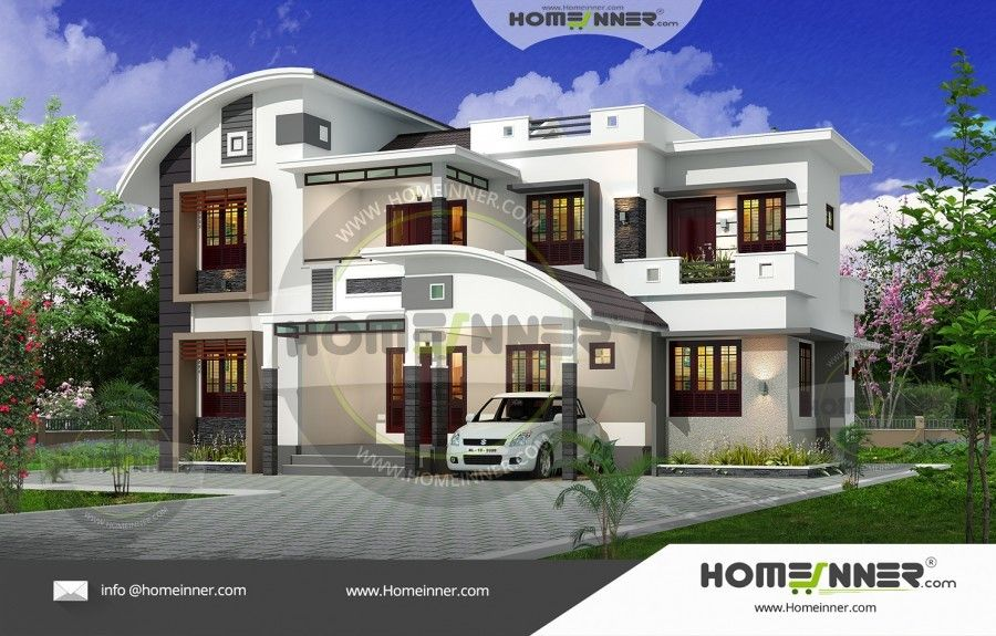 Sq ft bhk kerala modern house plan also pinterest rh in