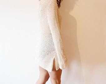 7619dcd957 Crochet beach cover-up tunic net dress lace sexy cheeky bikini beach ...