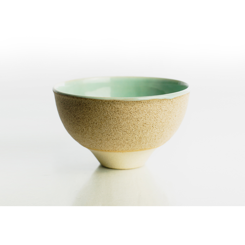 White and Green Tea Bowl