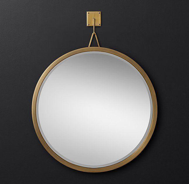 Pendant Round Mirror from RH Modern.
