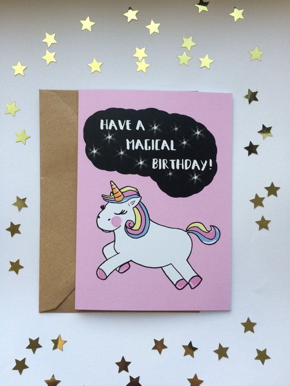 Magical Unicorn Happy Birthday Funny By AnnasArtBoutique