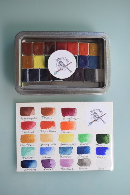 complete watercolor handmade set of 24 half pans of our non toxic