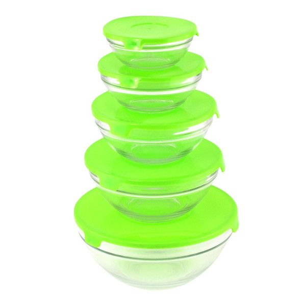 GLASS BOWLS WITH LIDS - GREEN Store wide sale $20% off all orders code cybersale!