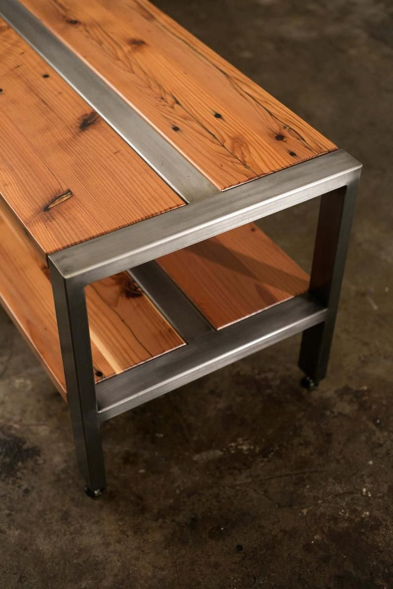 Reclaimed Redwood Softwood Tv Stand Bench Or Coffee Table Etsy In 2021 Welded Furniture Rustic Furniture Metal Furniture [ 1191 x 794 Pixel ]