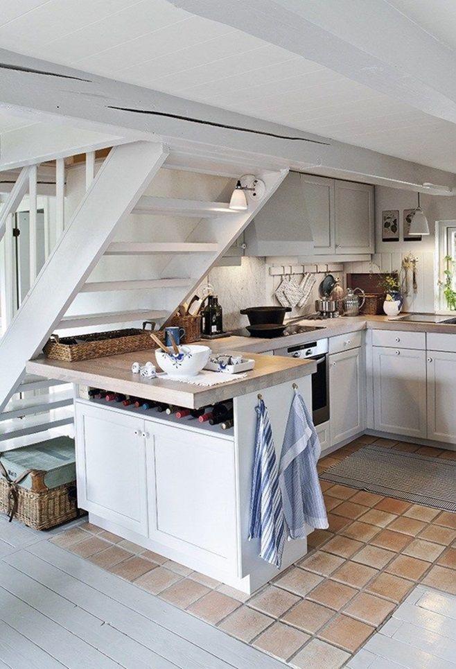 для кухни под лестницей фото шерсть голубые