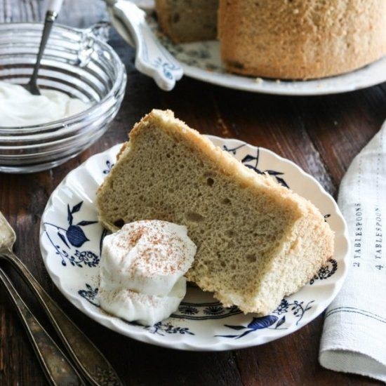 Rum Mocha Chiffon Cake. Light, airy, most, and flavorful. One of the most popular cakes in Japan. Flavored with rum and coffee.
