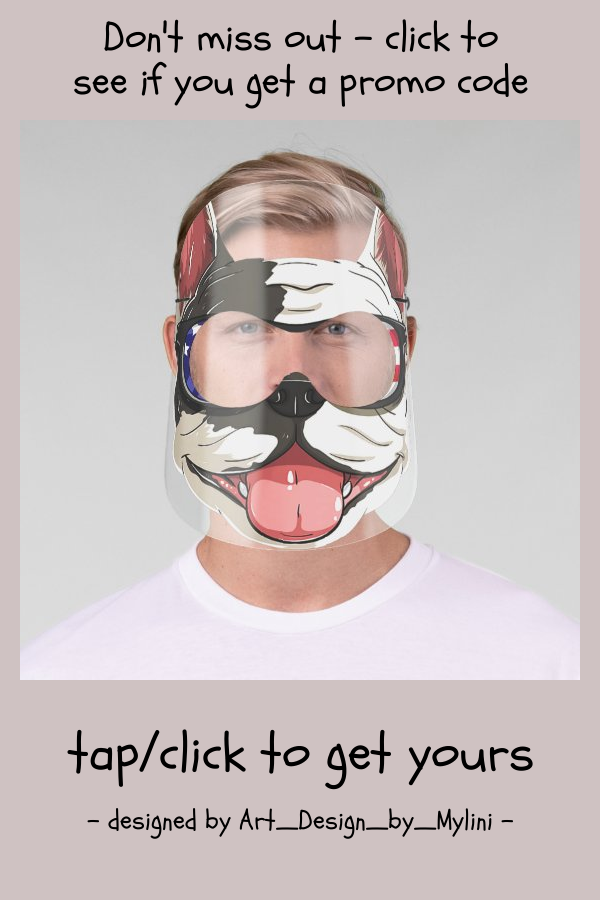 Happy Funny Puppy Face Shield | Zazzle.com