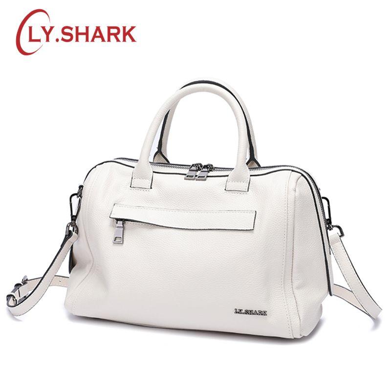 35e349f4e20 LY.SHARK Genuine Leather Women Bag Shoulder Bag Ladies Crossbody Bag ...