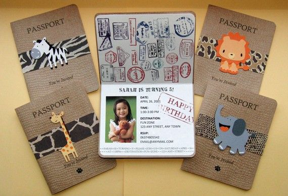 Safari Passport Party Invitations