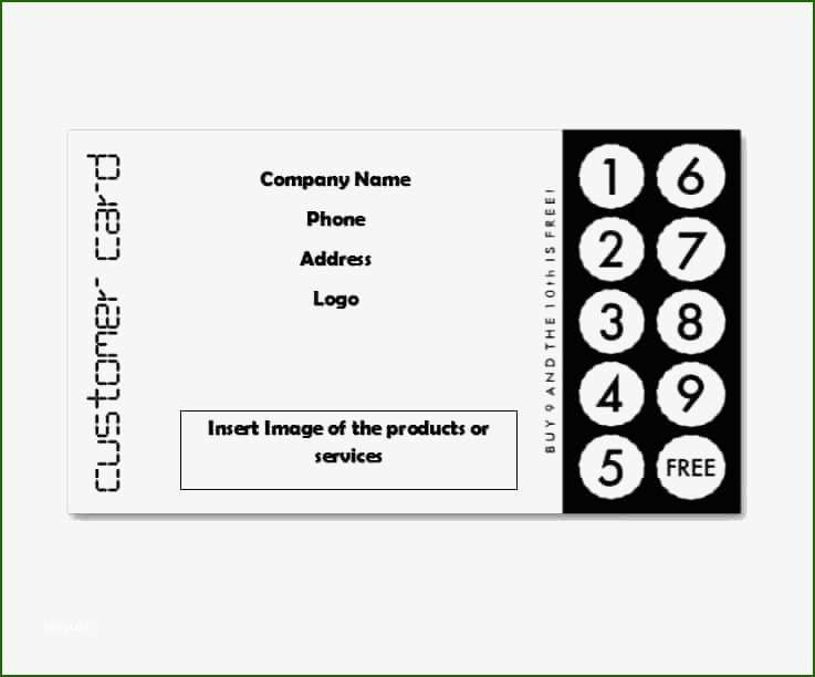 13 Terrific Free Punch Card Template In 2020 In 2020 Card Templates Free Card Templates Card Template