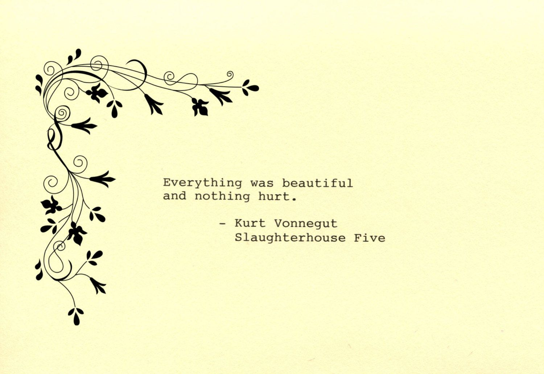 Kurt Vonnegut Quote Made on Typewriter Art Quote Wall Art ...
