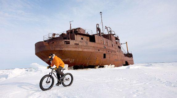Eric Larsen - Snow biking adventures