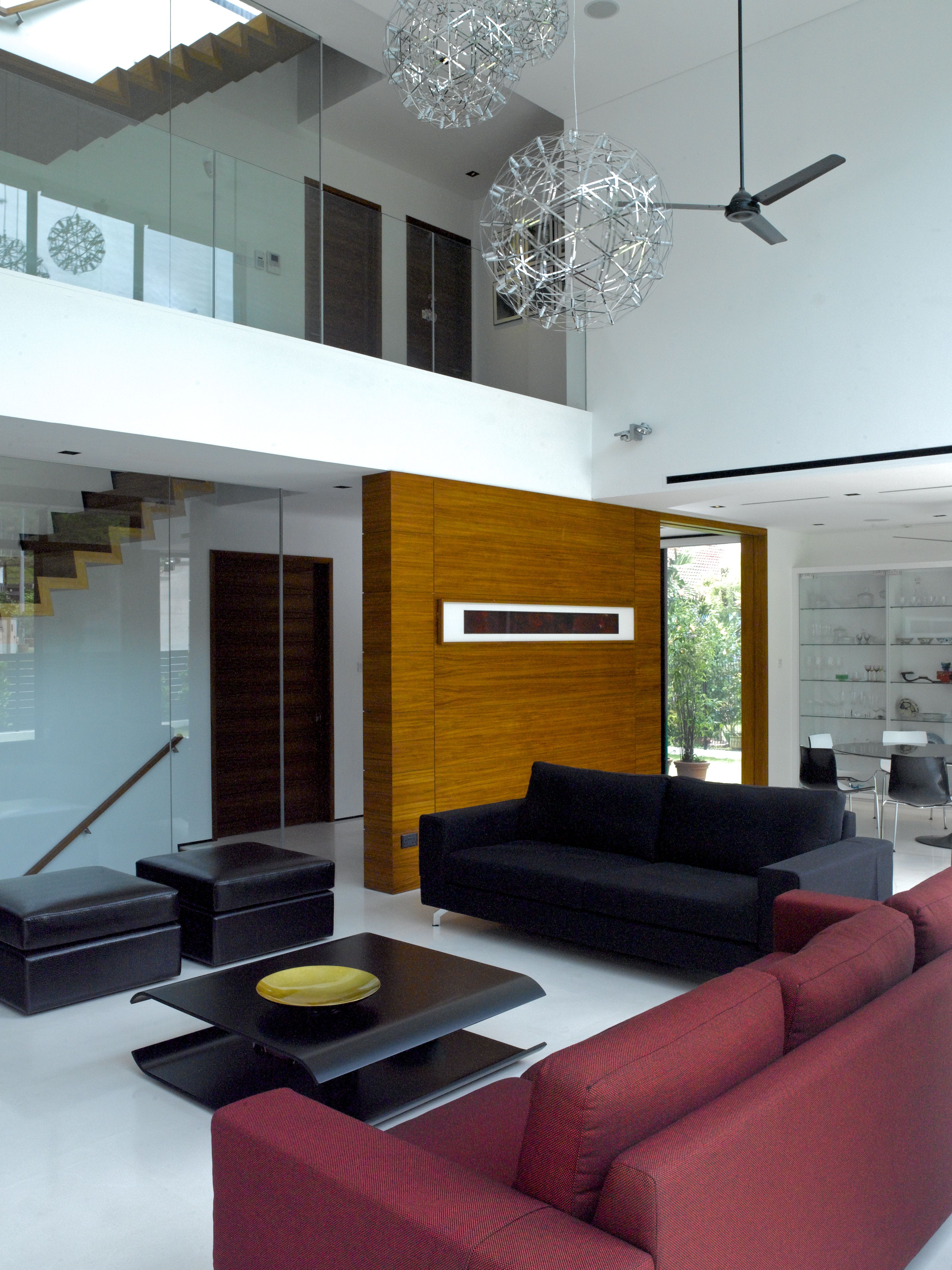 Living room with double volume space home decor pinterest for Double living room ideas