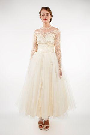 87bd69afcc9 Vintage 1950s ballerina length wedding dress from Beloved Vintage Bridal