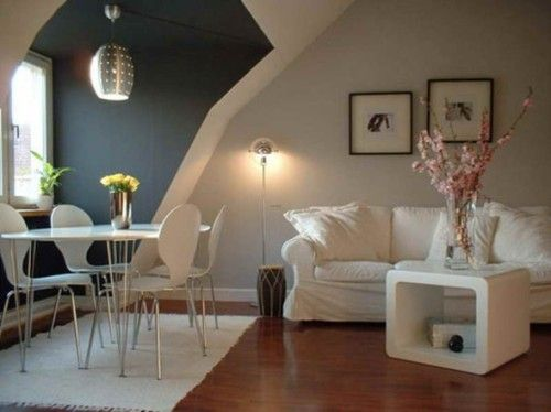 pequeña-sala-comedor-juntos Salas/Comedores Pinterest Ideas