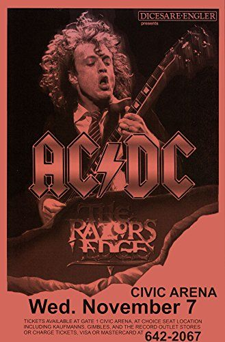 ac dc razor s edge tour 1990 retro art