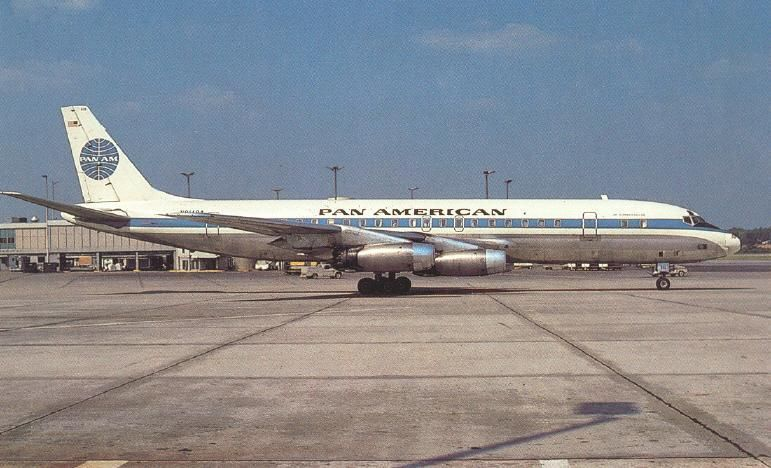 Pan Am DC-8 at ATL, circa 1964-65.
