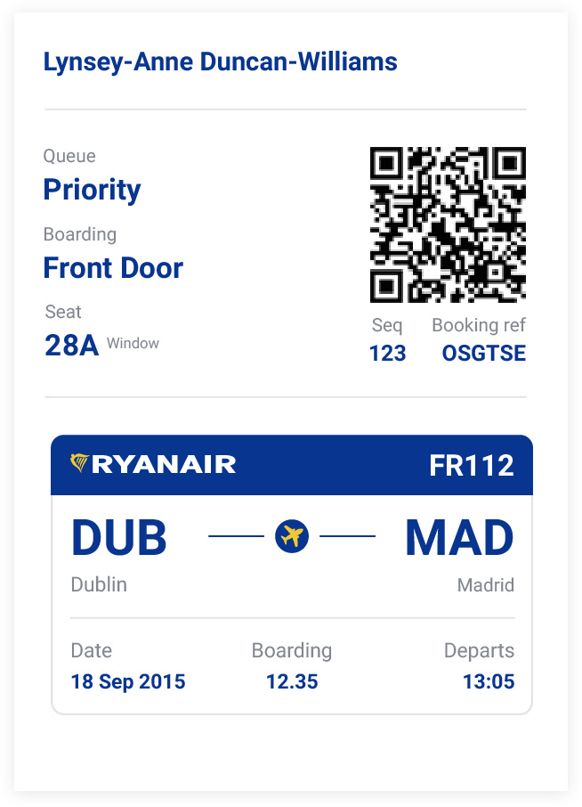 Priority Queue  Designing RyanairS Boarding Pass  Boarding Pass