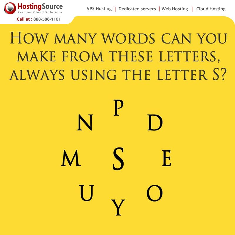 How many words can you make from these letters always using