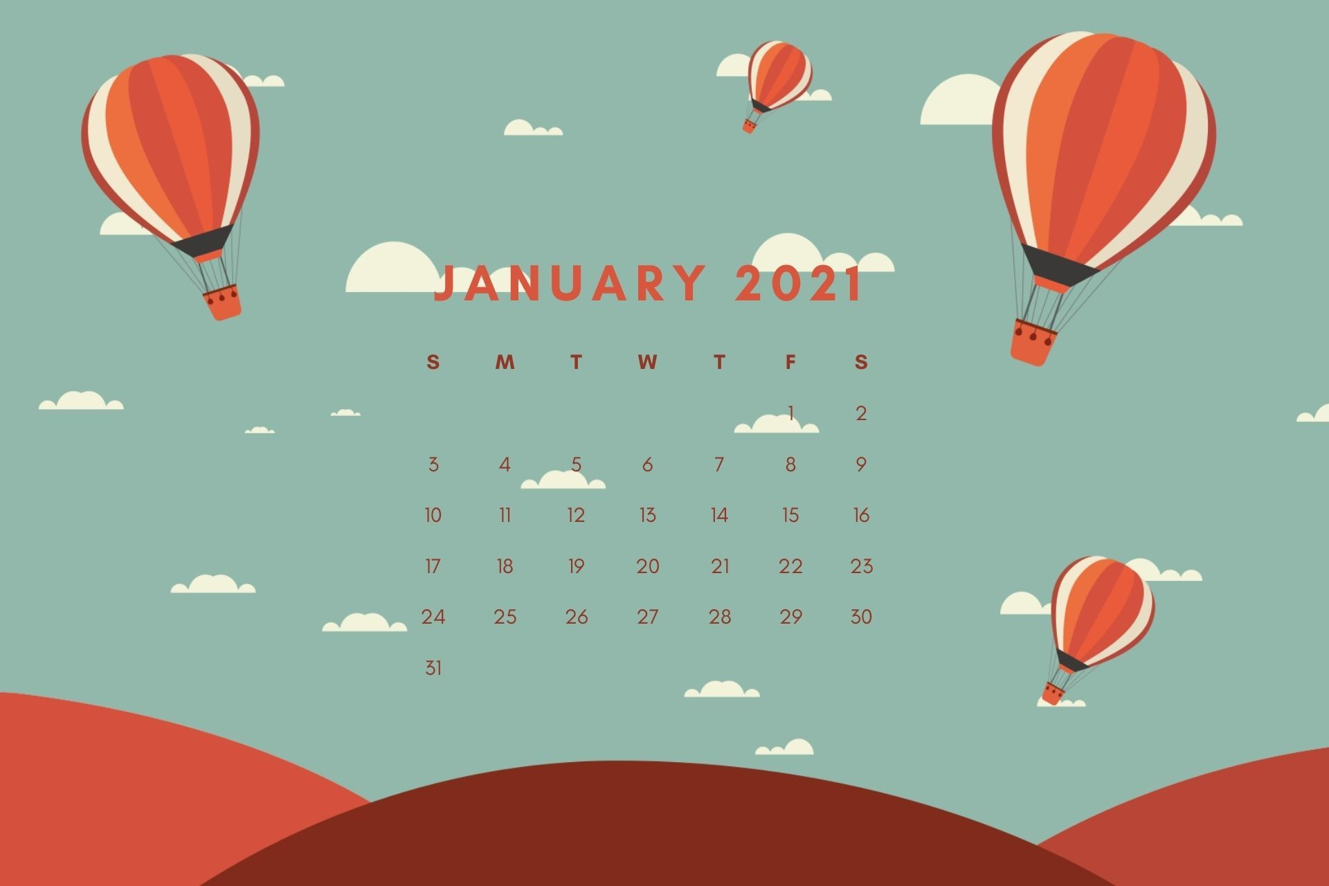 January 2021 Calendar HD Wallpaper Download | Desktop wallpaper