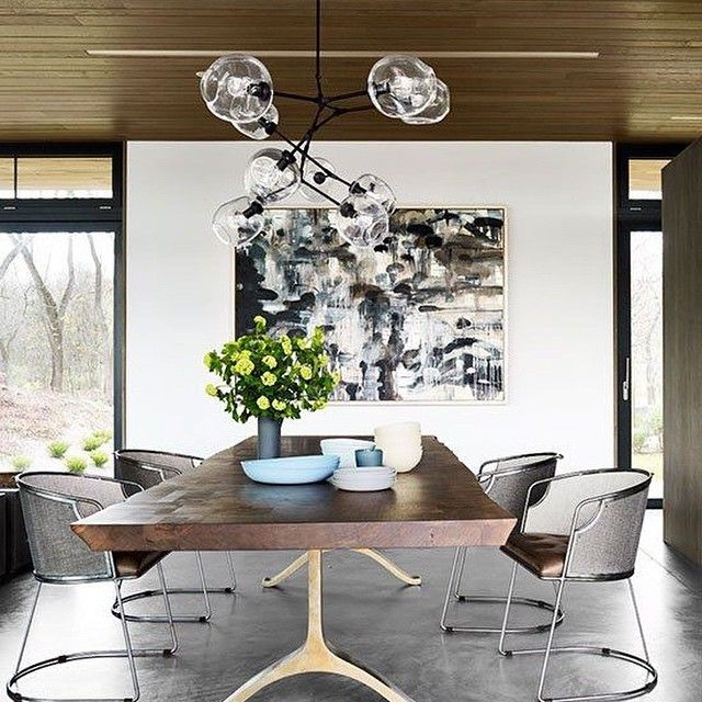 Esszimmer einrichtung kunst minimalismus
