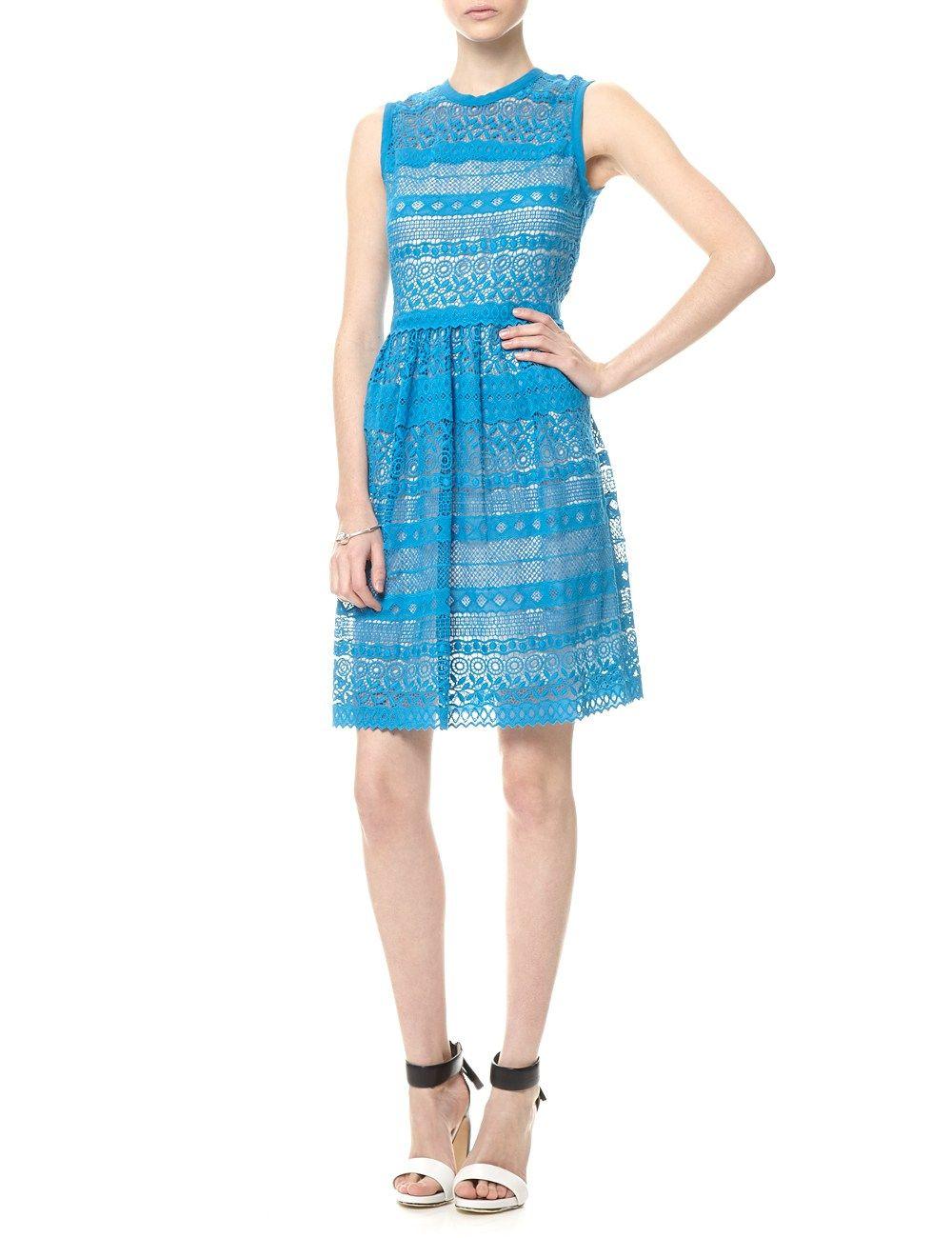 Aqua Lace Venice Dress | Yigal Azrouël | Avenue32