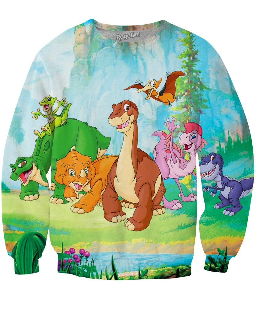the land before time gang crewneck sweatshirt land before time