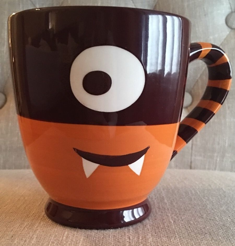 cyclops mug starbucks monster halloween coffee cup 21 oz rare 2006