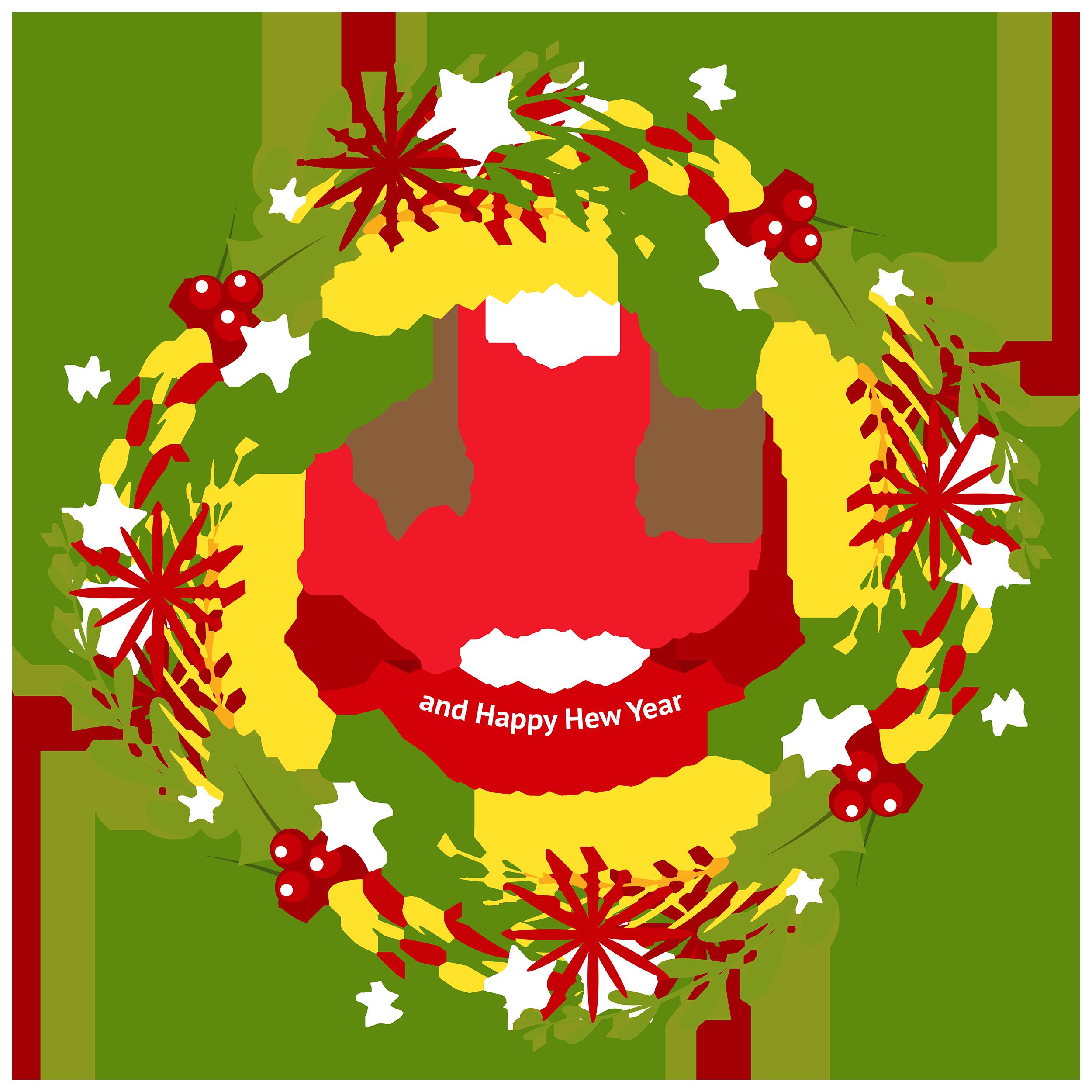 Christmas Wreath With Mistletoe Clipart Web Christmas Wreaths Very Merry Christmas Christmas Photos
