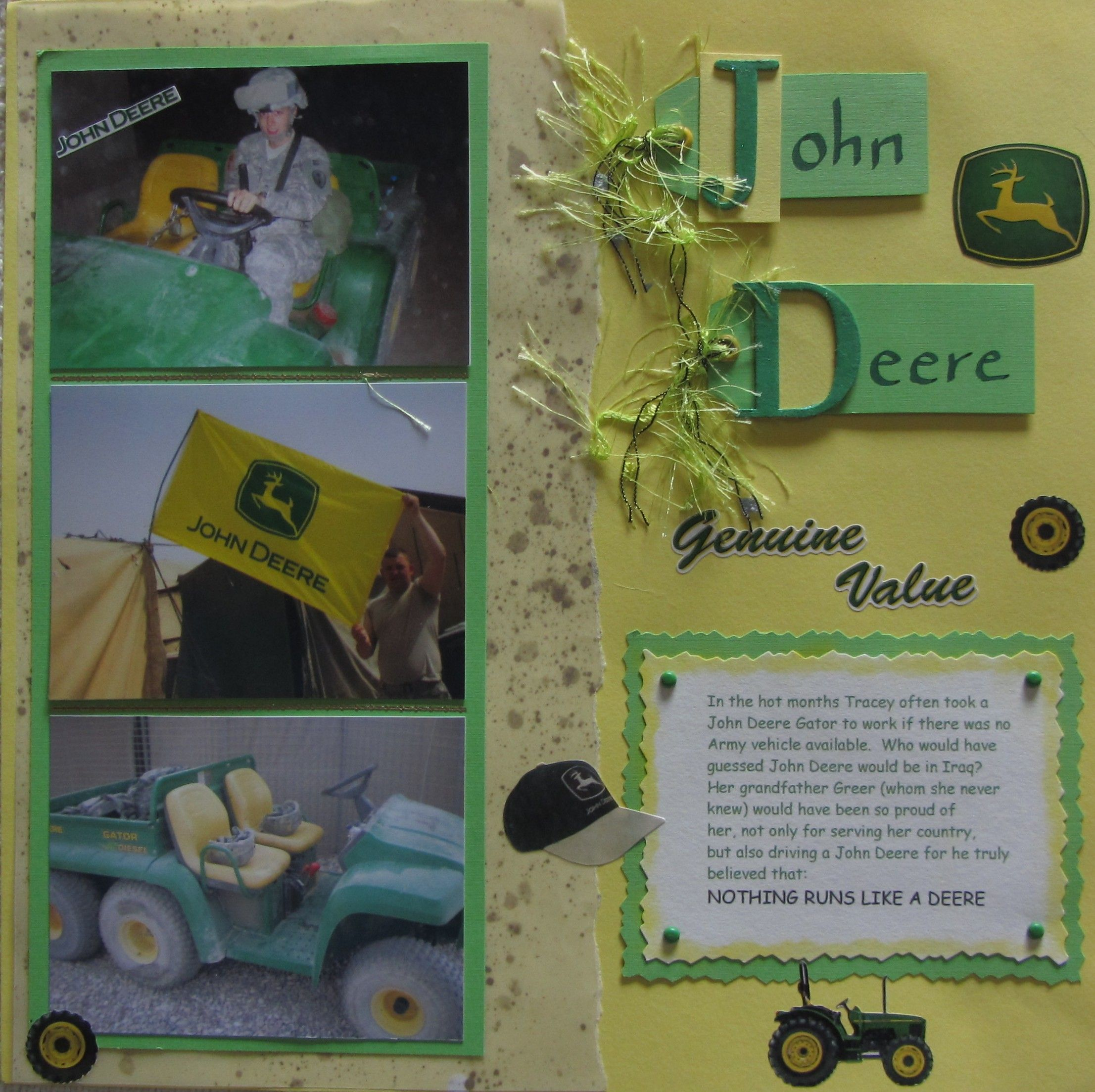 John Deere In Iraq Army Camps