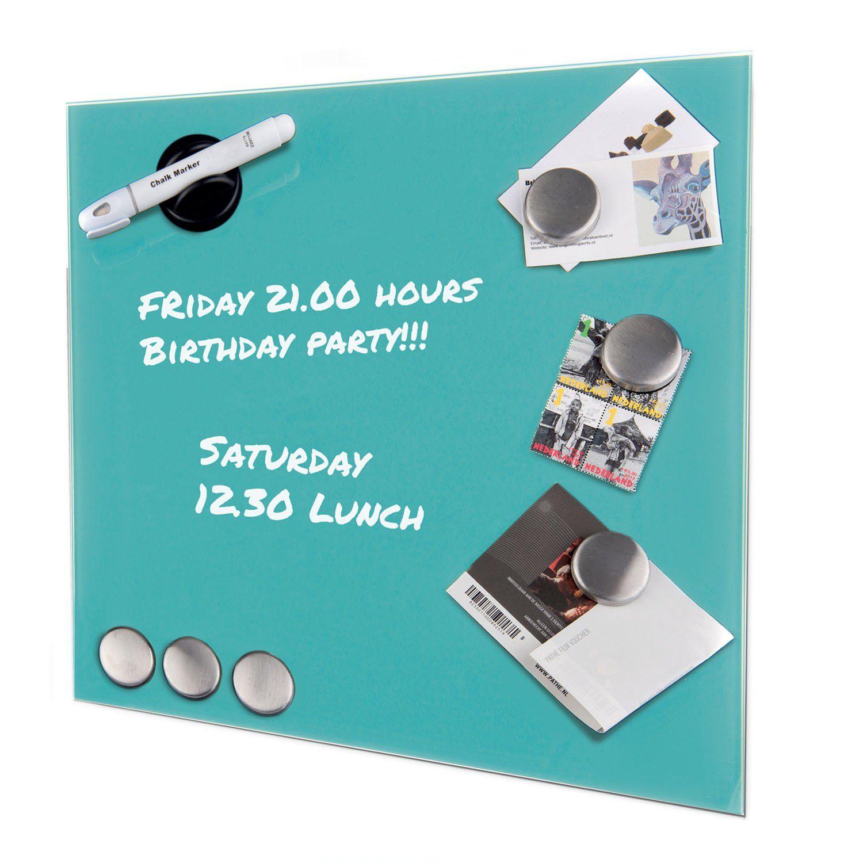 Glass Magnetic Memo Board 35 x 35cm, Bulletin Board, Notice Board ...