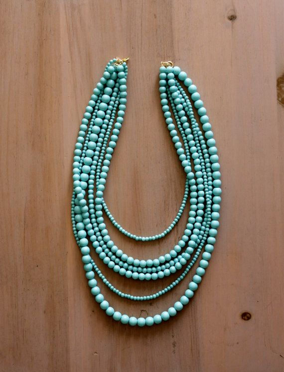 Hey, I found this really awesome Etsy listing at http://www.etsy.com/listing/126341844/aqua-multi-strand-necklace