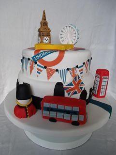 Stupendous London Themed Cake Birthday Cake Decorating London Cake Personalised Birthday Cards Vishlily Jamesorg