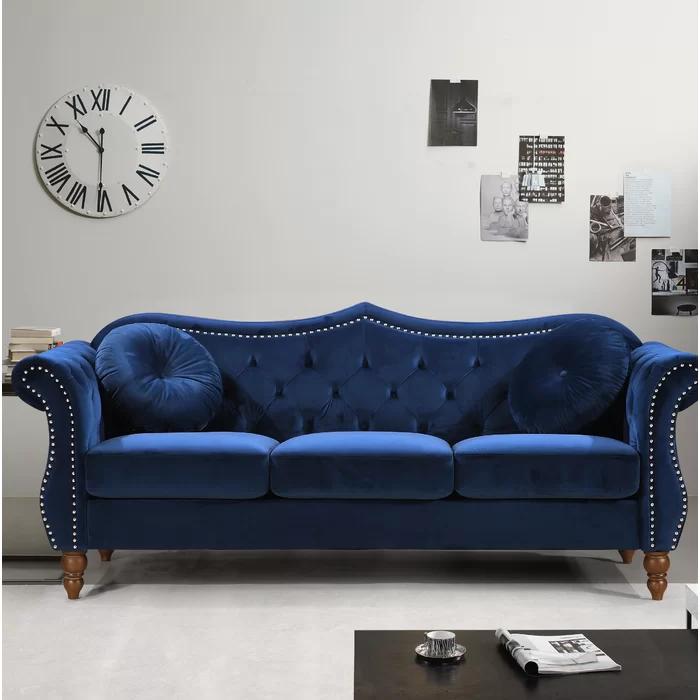 Mercer41 Telles Chesterfield Sofa Reviews Wayfair Rolled Arm Sofa Furniture Chesterfield Sofa
