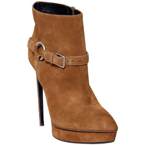 camel shoes polyvore shoes saint laurent 693200