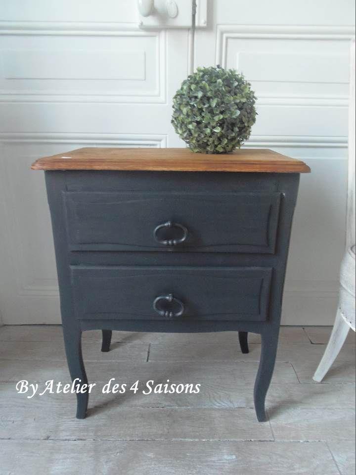 chevet vintage revisit made in france par l 39 atelier des. Black Bedroom Furniture Sets. Home Design Ideas
