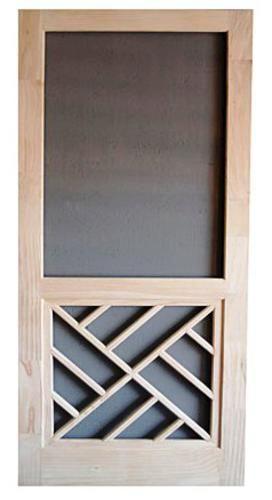Chippendale Panel Wood Swinging Screen Door 32 W X 80 H At Menards