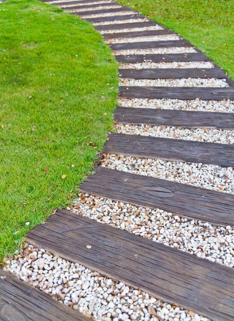 33 Beauty And Affordable Wooden Garden Path Ideas Walkways